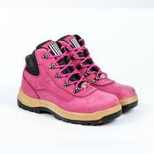womens pink work boots australia pink hiker style safety work boots australia she wear