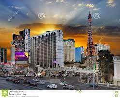 Hotel Map Of Las Vegas Strip by Las Vegas Strip Sunset Nevada Editorial Stock Image Image 73254184