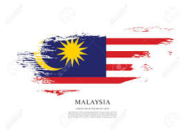 Malaysai Flag Flag Of Malaysia Brush Stroke Background Royalty Free Cliparts