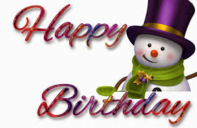 pretty happy birthday greeting card ideas with adorable snowman