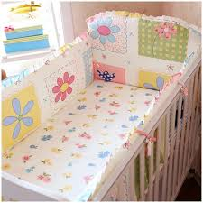 Fancy Crib Bedding Promotion 6pcs Baby Cot Crib Bedding Set Cuna Baby Bed Bumper