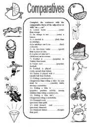 english teaching worksheets comparatives and superlatives