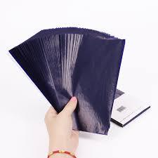 bureau des finances 50 pcs bleu papier carbone 48 k mince type papeterie