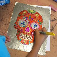 day of the dead sharpie art art projects for kids