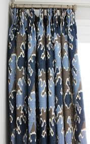 kelly wearstler bengal bazaar grey indigo custom drapes and box