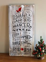 this cute rustic reindeer names wood sign will make your home feel