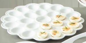 white deviled egg plate everyday white by fitz and floyd flower deviled egg platter