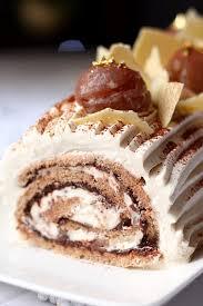 cuisine marron glacé bûche aux marrons glacés et chocolat gourmandiseries