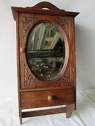 medicine cabinet with towel bar vintage provincial wood medicine cabinet farmhouse towel bar mirror