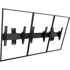 wall mounts for decorative plates chief fusion large 3 x 1 portrait menu board wall mount lwm3x1up