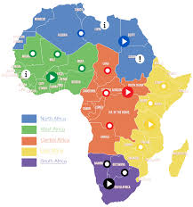 Africa Labeled Map by African Regions Map Michaelsp3 Thinglink