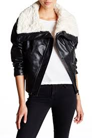 faux leather throw pillows guess faux shearling collar faux leather moto jacket nordstrom