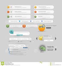 website menu design website design template menu elements with icons stock photography