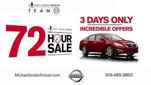 nissan altima for sale durham nc michael jordan nissan 72 hour sale youtube