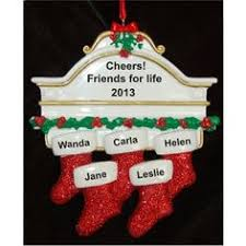 in the spirit of friendship 9 stockings christmas ornament