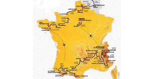 Tour De France Route Map by Le Tour De France 2015 Chris Froome Completes Historic British