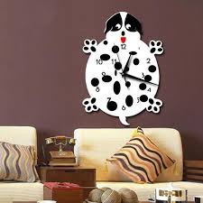 Home Decor Dropship Spotty Dog Design Wall Clocks Quartz Mechanism For Dog Lover Home