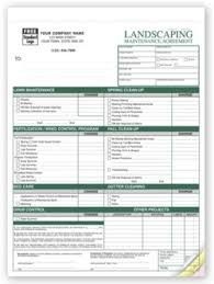 Landscaping Invoice Template by Witko Landscaping Maintenance Invoice Forms Personalized Printing