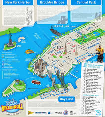 New York Islands Map by New York City Most Popular Attractions Map In Map Of Nyc