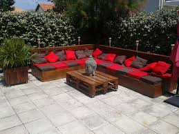 Diy Wood Pallet Patio Furniture - furniture best diy pallet outdoor furniture with l shape sofa
