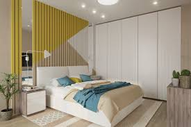 bedroom artistic bedroom accent walls that use slats to look