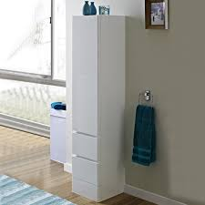 bathroom cabinets white lacquer solid wood stand linen organizer