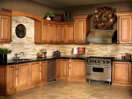 stacked stone tile backsplash