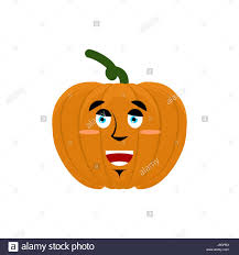 pumpkin happy emoji and thanksgiving day vegetable