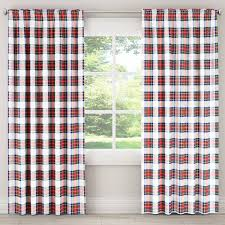 Plaid Blackout Curtains Skyline Plaid Blackout Window Curtain Panel Free Shipping Today