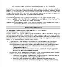 Software Developer Resume Examples by Sample Software Developer Resume 10 Free Documents Download In