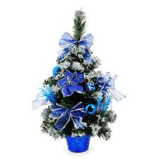 2017 tabletop gift 30cm blue small decoration tree