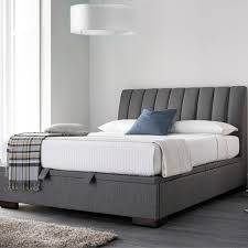Grey Fabric Ottoman Bed Oslo Upholstered Bed Frame Upholstered Beds Beds Bedroom