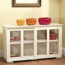 furniture white wooden kitchen storage cabinet with sliding glass