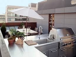 Patio Grills Built In Rooftop Grill Patio Modern With Table Contemporary Outdoor Grills