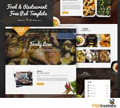 food and restaurant website free psd template download download psd