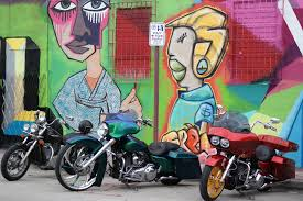 wynwood yolo filled with artist studios and wall murals all around the place has a special vibe that comes to life especially on the second saturday art walk