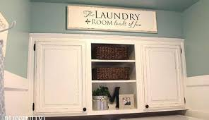 laundry room upper cabinets remodelaholic 100 laundry room makeover