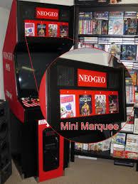 Neo Geo Arcade Cabinet Neo Geo Mvs Mini Marquee U0027s Retro Megabit