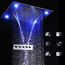 2017 led light remote 600 800mm shower set