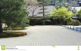 raked zen garden stock photo image 76189731