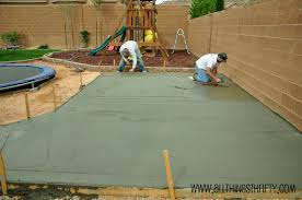Painting A Cement Patio by Concrete Patio Project Backyard Landscaping Update All Things