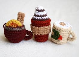 crochet drink ornaments for mollie makes gathered one