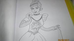 draw cinderella image drawing video