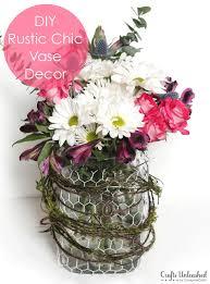 Challenge Vase Glass Vase Decor Diy Rustic Chic Vase Tutorial