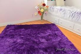 Nursery Area Rugs Purple Faux Fur Rug Shaggy Premium Nursery Area Rug Sheepskin