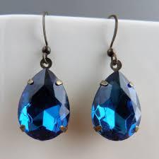 blue drop earrings blue drop earrings beunique