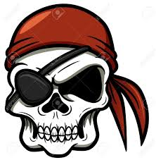 illustration of pirate skull royalty free cliparts vectors and