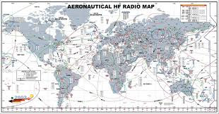 Air New Zealand Route Map by Swld Shortwave Listeners Delight Civil Aviation Flightwatch Hf