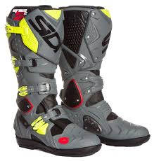 black motocross boots sidi mx boots crossfire 2 srs black grey yellow fluo 2017 maciag