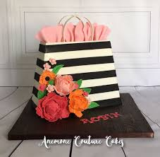black and white striped gift bags black and white stripe floral gift bag cakecentral